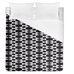 Black And White Triangles Duvet Cover (queen Size)