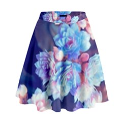 Flowers High Waist Skirt by Sparkle