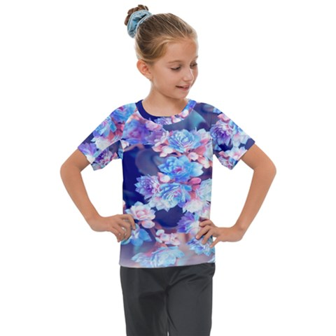 Flowers Kids  Mesh Piece Tee by Sparkle