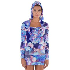 Flowers Long Sleeve Hooded T Shirt