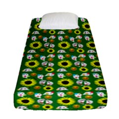 Hawaii Ghost Green Fitted Sheet (single Size)
