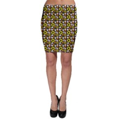 Hawaii Ghost Brown Bodycon Skirt