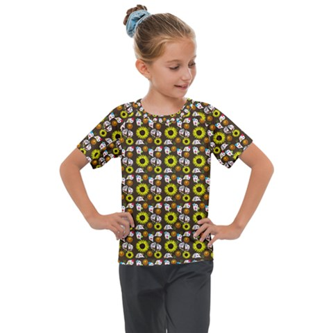 Hawaii Ghost Brown Kids  Mesh Piece Tee by snowwhitegirl