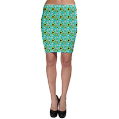 Hawaii Ghost Aqua Bodycon Skirt
