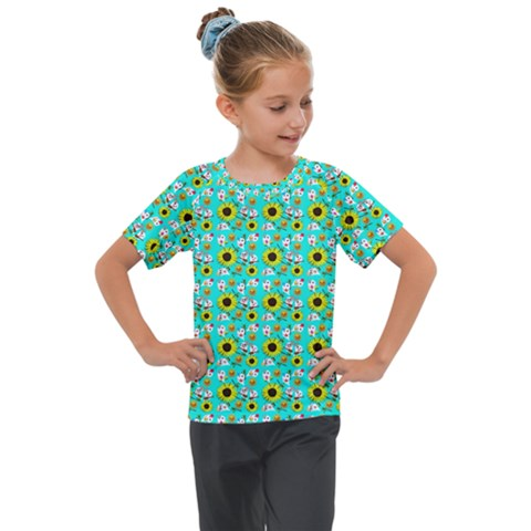 Hawaii Ghost Aqua Kids  Mesh Piece Tee by snowwhitegirl