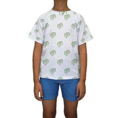 Happy St Patricks Day Symbol Motif Pattern Kids  Short Sleeve Swimwear by dflcprintsclothing