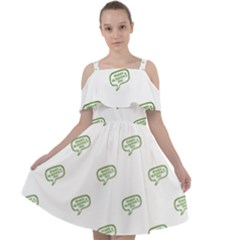 Happy St Patricks Day Symbol Motif Pattern Cut Out Shoulders Chiffon Dress by dflcprintsclothing
