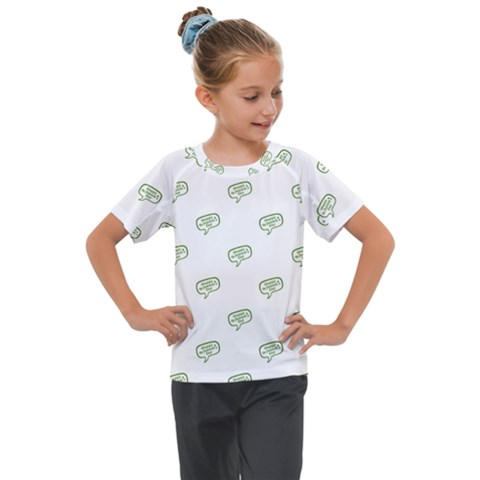 Happy St Patricks Day Symbol Motif Pattern Kids  Mesh Piece Tee by dflcprintsclothing