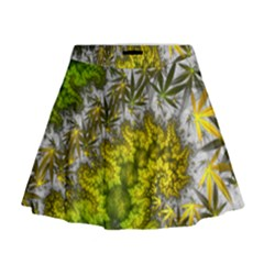 Trippy Flower Mini Flare Skirt