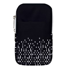 Black And White Matrix Patterned Design Waist Pouch (small)