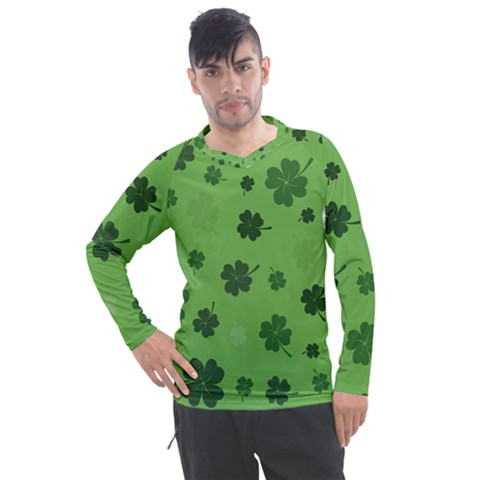 St Patricks Day Men s Pique Long Sleeve Tee by Valentinaart
