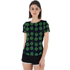 St Patricks Day Back Cut Out Sport Tee by Valentinaart