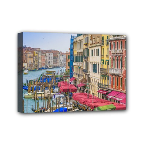Aerial View Grand Canal Of Venice, Italy Mini Canvas 7  X 5  (stretched) by dflcprintsclothing