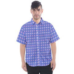 Plaid8ac Men s Short Sleeve Shirt