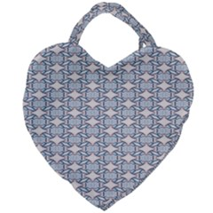 Digital Stars Giant Heart Shaped Tote by Sparkle