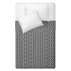 Black And White Triangles Duvet Cover Double Side (single Size)
