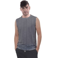 Black And White Triangles Men s Regular Tank Top