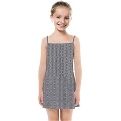 Black And White Triangles Kids  Summer Sun Dress