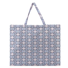 Digital Stars Zipper Large Tote Bag