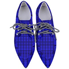Digital Illusion Pointed Oxford Shoes