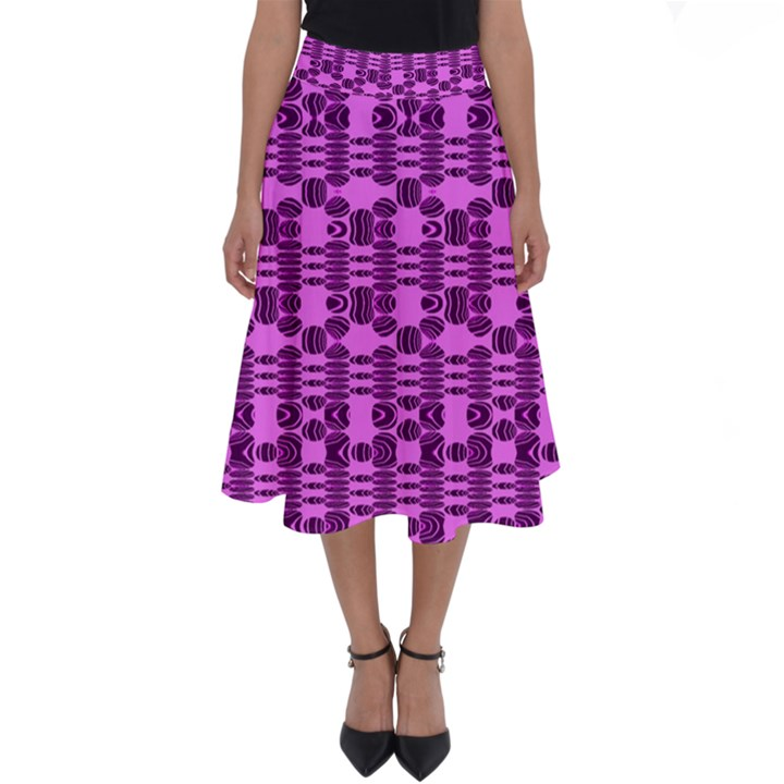 Digital Violet Perfect Length Midi Skirt