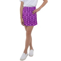 Digital Violet Kids  Tennis Skirt