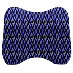 Blue Diamonds Velour Head Support Cushion by Sparkle