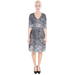 Grey Glow Cartisia Wrap Up Cocktail Dress