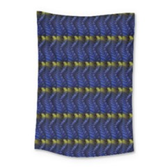 Blue Illusion Small Tapestry