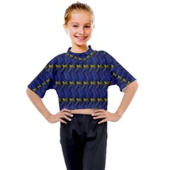 Geometric Balls Kids Mock Neck Tee