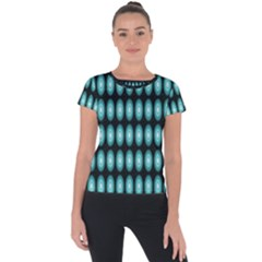 Mandala Pattern Short Sleeve Sports Top