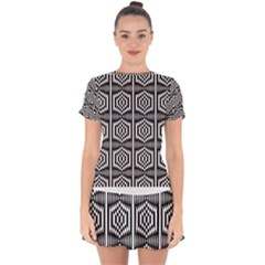 Mandala Pattern Drop Hem Mini Chiffon Dress by Sparkle