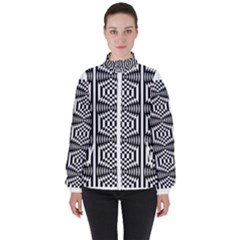 Mandala Pattern Women s High Neck Windbreaker