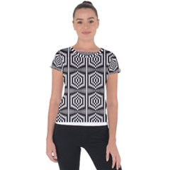 Optical Illusion Short Sleeve Sports Top