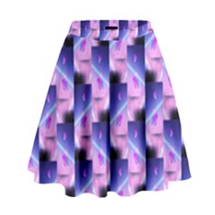 Digital Waves High Waist Skirt by Sparkle