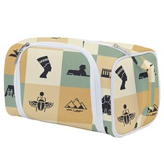 Egyptian Flat Style Icons Toiletries Pouch