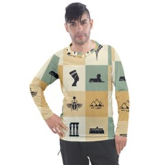 Egyptian Flat Style Icons Men s Pique Long Sleeve Tee