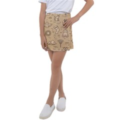 Egyptian Seamless Pattern Symbols Landmarks Signs Egypt Kids  Tennis Skirt
