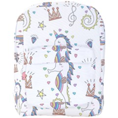 Seamless Pattern Cute Unicorn Cartoon Hand Drawn Full Print Backpack by Wegoenart