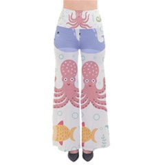 Underwater Seamless Pattern Light Background Funny So Vintage Palazzo Pants