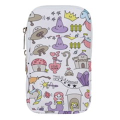 Fantasy Things Doodle Style Vector Illustration Waist Pouch (small)
