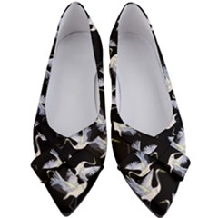 Crane Pattern Women s Bow Heels