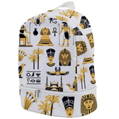 Egypt Symbols Decorative Icons Set Zip Bottom Backpack