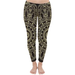 Hamsa Hand Drawn Symbol With Flower Decorative Pattern Classic Winter Leggings