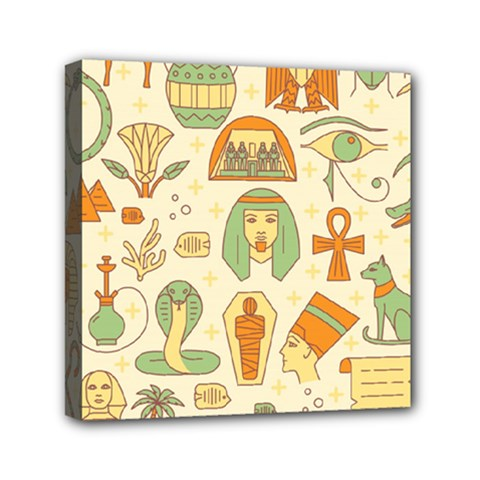 Egypt Seamless Pattern Mini Canvas 6  X 6  (stretched)