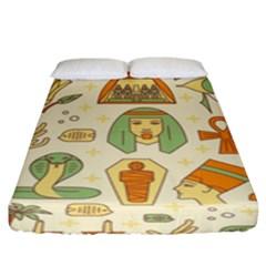 Egypt Seamless Pattern Fitted Sheet (king Size)