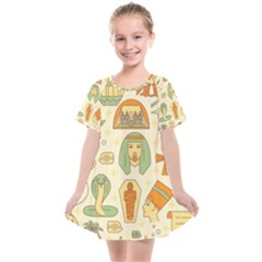 Egypt Seamless Pattern Kids  Smock Dress