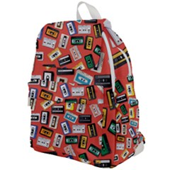 Vintage Retro Cassette Tape Pattern Design Template Top Flap Backpack by Wegoenart