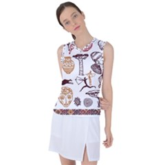 Africa Doodle Set Women s Sleeveless Sports Top by Wegoenart
