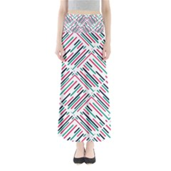 Abstract Colorful Pattern Background Full Length Maxi Skirt